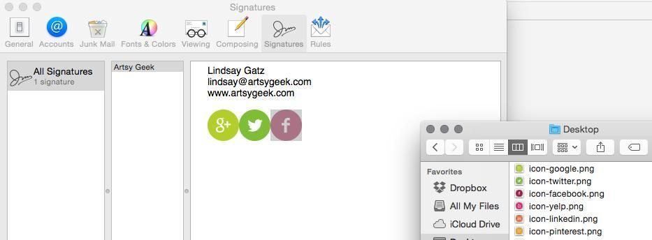 How To Add A Mac Email Signature With Pizzaz Artsy Geek