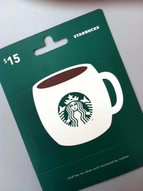 Starbucks gift card | Artsy Shark