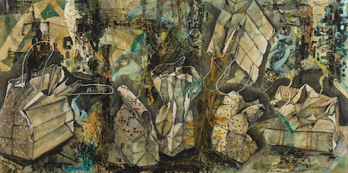 mixed media art by Christie Marks