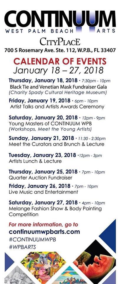 Continuum list of events - Palm Beach Art Week