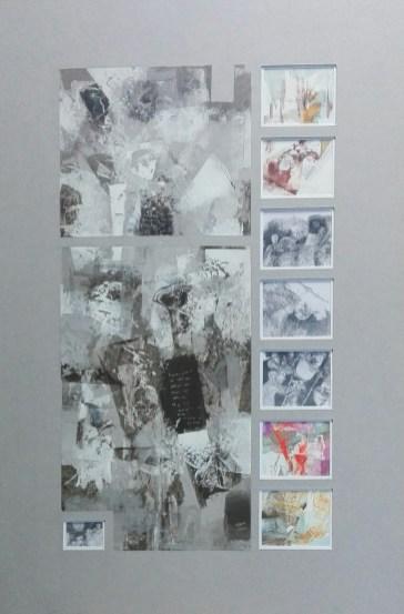 21 Akryl,karton '' Jestem tylko przechodniem'' 61cm x 44cm. 2018