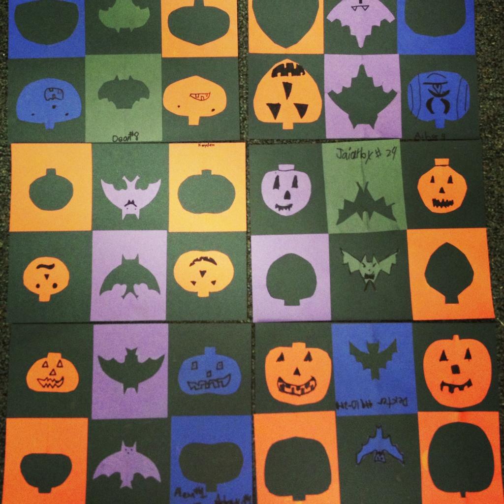 Positive Negative Halloween Shapes