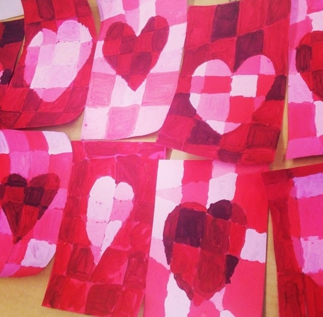 Valentines's Day Elementary Art Lessons