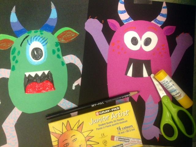 Halloween Art Monster Collage Art Teacher In La