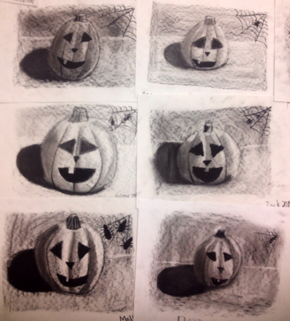 Halloween Charcoal Drawing Lesson- Jack-O-Lanterns