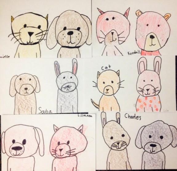 Simple Shape Animal Drawings Art Teacher In La