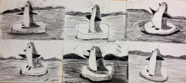 Charcoal Penguins