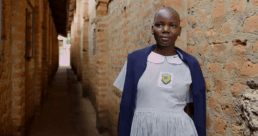 African girl in alley