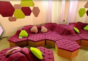 Ivan Parati's SandPaper modular sofa