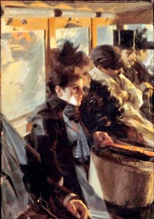 """Omnibus"" by Anders Zorn, Paris, 1892, oil on canvas, 126 x 88 cm."