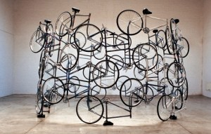"""""""Forever"""", 2003, by Ai Weiwei. Installation view at the Mori Art Museum, Tokyo, 2009, Photo by Watanabe Osamu. Photo courtesy of Mori Art Museum, Tokyo."""