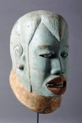 Makonde, Tanzania Mask, foreigner, n.d. wood, pigment, 12 inches high, Private Collection, USA.