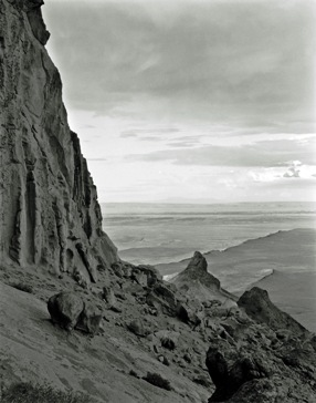 Shiprock, Gelatin silver print, 1991, William Clift.