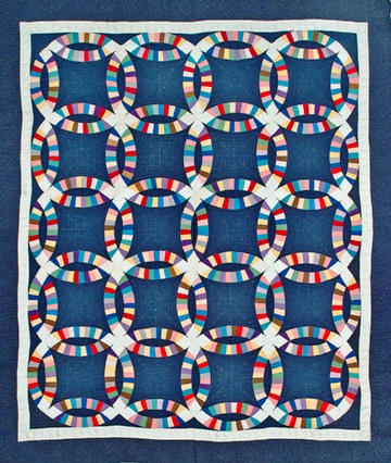 Double Irish chain, c. 1935, Ohio, Cotton, 81.5 x 71.