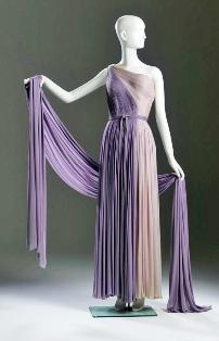 Madame Grès silk chiffon evening dress, ca.1950, Ann Bonfoey Taylor collection, Phoenix Art Museum.