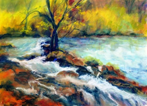 """Rushing Water"" by artist Rita Corrigan."