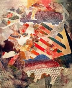 """Buffalo Thinking of Ancestors #2"", monotype by Corwin Clairmont."