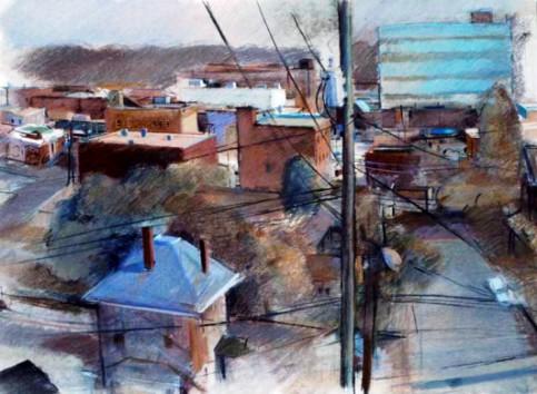 """""""Pulaaski, Virginia III"""" (Wires) by Jan Knipe, 2001."""