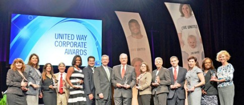CEO, United Way Worldwide Brian Gallagher with 2014 Corporate representatives.