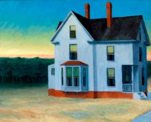 """Cape Cod Sunset"", 1934, oil on canvas., by Edward Hopper. Whitney Museum of American Art."