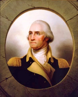 """George Washington"" 1853. Oil on canvas by Rembrandt Peale (1778–1860). The New-York Historical Society, Bequest of Caroline Phelps Stokes."
