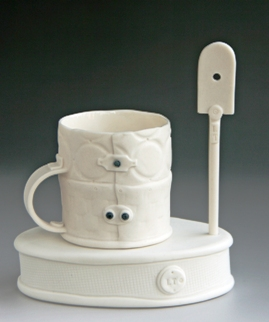 """Espresso Cup with Stirring Stick"" by Leilani Trinka of Singapore."