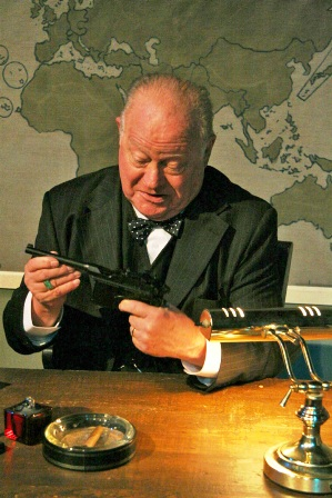 Edmund Shaff as Sir WinstonChurchill.