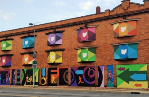 A revitalized building in downtown Toledo, Ohio which is overseen by the Live, Work, Create group.