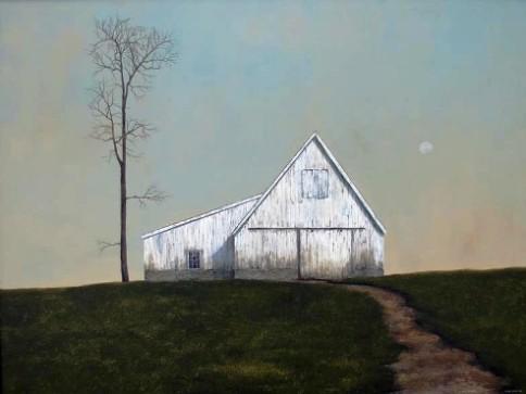 """""""Dutch Barn"""", oil on canvas, by Luke Stretar."""