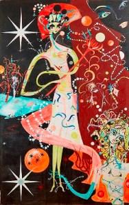 Austé. A Mistaken Style of Life, 1987. Acrylic on canvas. 8' x 5'. Courtesy the artist and Algus Greenspon, New York.