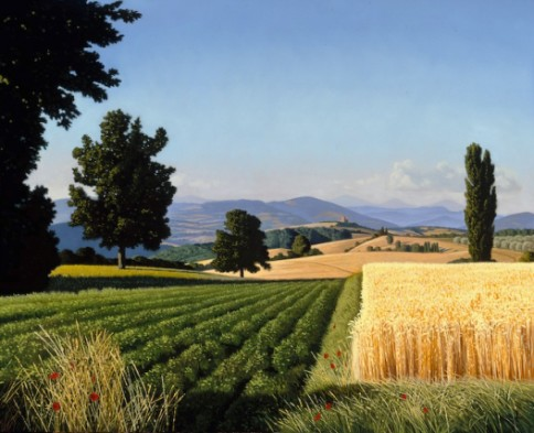 Georgic Landscape, 2005, oil on canvas, 26 x 32 inches, Private Collection, London, UK, David Ligare