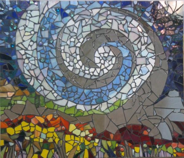Big Wind - Glass & Mirror Mosaic