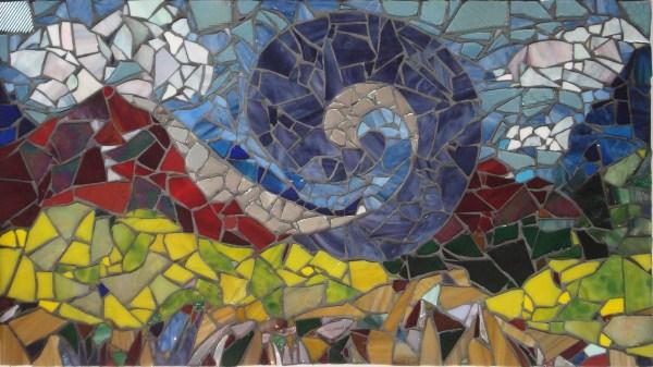 Blue Wind - Glass & Mirror Mosaic