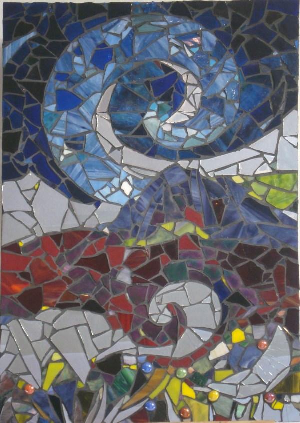 Night Winds - Glass & Mirror Mosaic