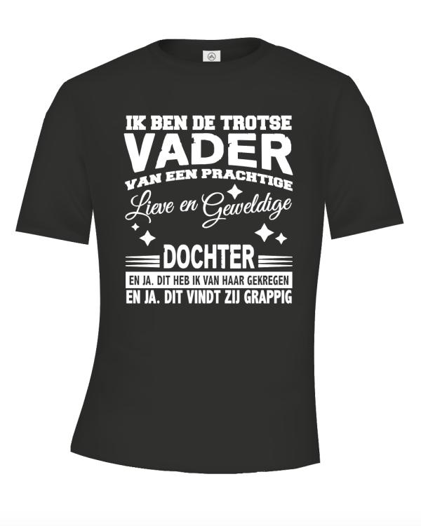 Ik ben de trotse vader van een prachtige dochter t-shirt