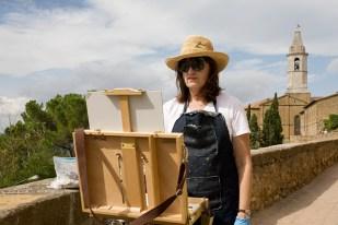 Painting in Pienza