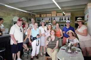 Wine tasting in Chateau Nuef de Pape