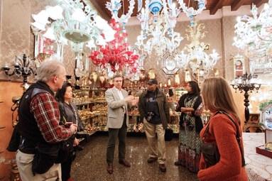 Glass tour on Murano