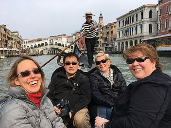 Gondola ride on the Grand Canal.