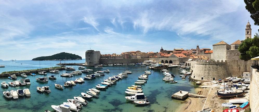 Dubrovnik harbor.