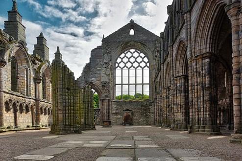 Abbey ruins.