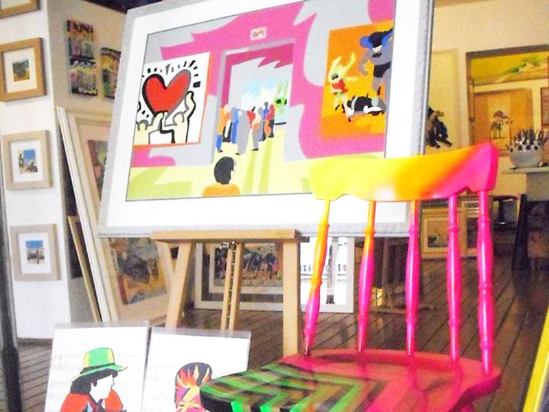 Artù bottega d'arte Colle Val d'Elsa il negozio