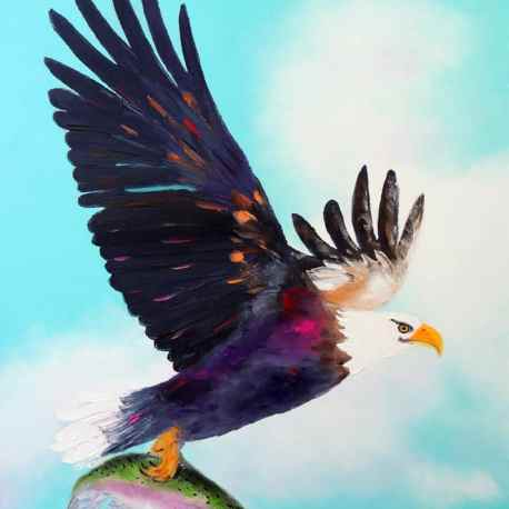 """Catch a Flight! Oil. 30""""X24"""" Original available for purchase"""