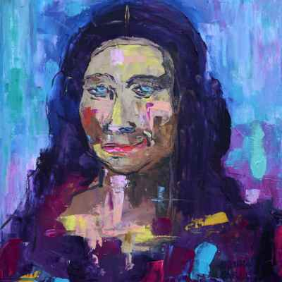 "La Gioconda Oaxaqueña. Oil. 16""X12"" Original Available for Sale."
