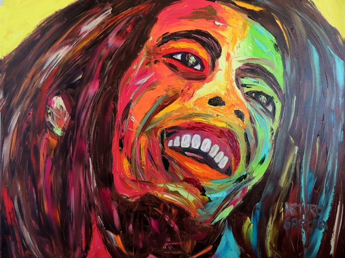 """Tuff Gong. Oil painting 30""""X24"""""""