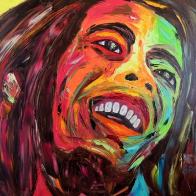 "Tuff Gong. Oil painting 30""X24"""