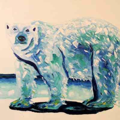 """Polar Beauty. Oil. 24""""X30"""" Original Available for Sale."""
