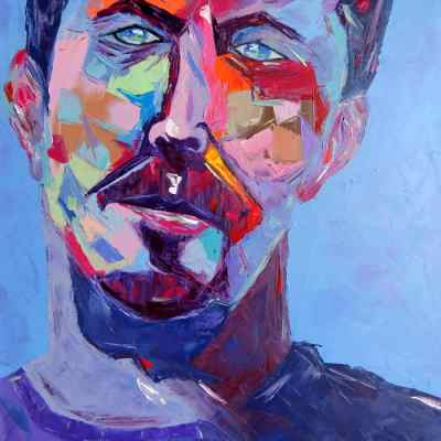 "Slowhand. Oil painting 30""X24"""