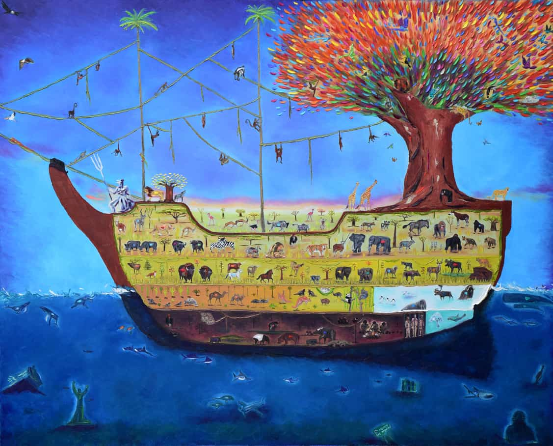 """The Ark of Life. Oil. 48""""X60"""". Available."""
