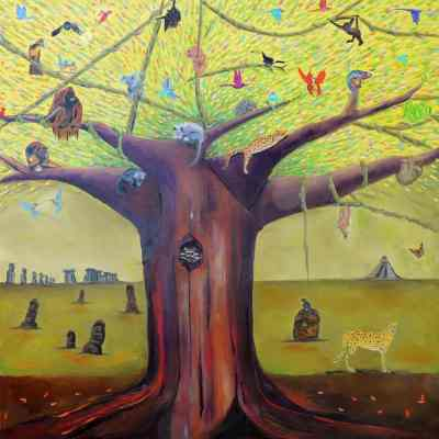 """The Timeless Tree. Oil. 48""""X48"""". Available."""